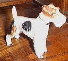 Vintage Kreiss ceramic Terrier dog figurine with original collar