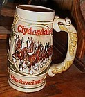 1983 Budweiser stein with Clydesdales 4th holiday stein