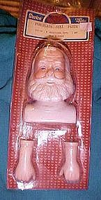 "Mangelsen's 4 1/2"" Porcelain Santa doll head and hands New old stock"