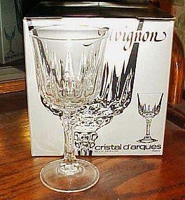 "Avignon Cristal D'Arques-Durand  6 1/4"" wine goblet 24% lead crystal"