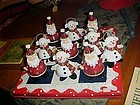 Home Interiors Santa and Snowman tic tac toe set New in box