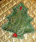 Vintage Lefton Christmas tree plate
