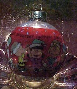 1990 Hallmark Peanuts gang 40th Anniversary Glass Ball ornament