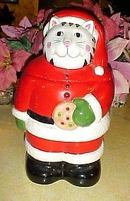 CoCo Dowley Santa Claws kitty cat cookie jar