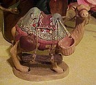 Wonderful ceramic nativity camel with attached pottery