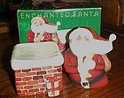 Santa and Chimney salt and pepper shakers in the box Susan Winget