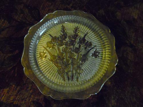 Jeanette crystal Iris Herringbone dinner plate