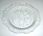 "Jeanette crystal Iris and Herringbone 5 1/2"" saucer"