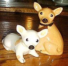 Adorable chihuahua dog salt and pepper shakers