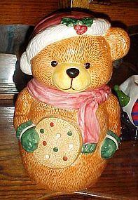 Dalton cookie jar Santa bear holding big cookie