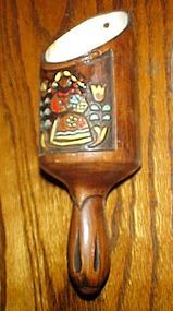 Treasure Craft Pennsylvania Dutch girl scoop wall pocket