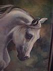 Beautiful Arabian horse oil painting In memory of Rummy by Lee Netzel