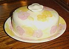 Franciscan Garden Party oval covered cheese / butter dish