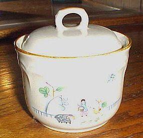 International China Heartland covered sugar bowl