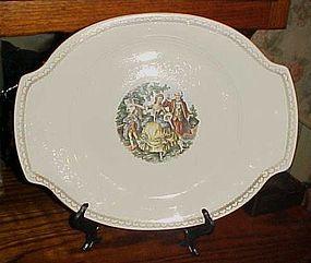 """Vintage 40's Oval serving platter Salem China SLM97 pattern rare 14"""""""