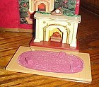 Hallmark The Bearingers flickering fireplace ornament tabletop display