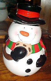 Teleflora 2013 Snowman cookie jar