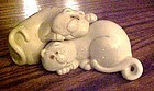 Fitz and Floyd cat nap salt and pepper shakers 1970
