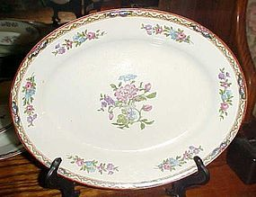 J&G Meakin Hanley England Chatsworth deep oval bowl/platter 10""