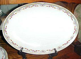 """B Bloch & Co Eichwald Czecholslovakia pattern CZE4 oval platter 14"""""""