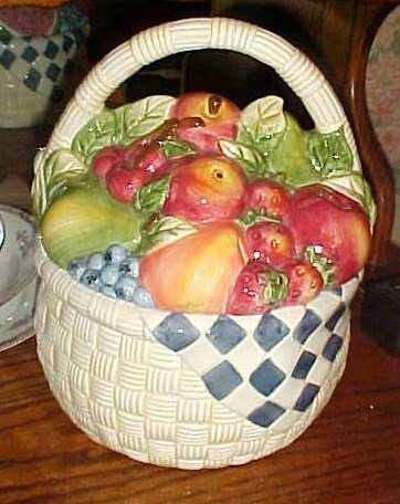 Certified International basket of fruit cookie jar Susan Winget