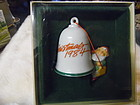 Hallmark Christmas 1984 bell ornament with elfin artist