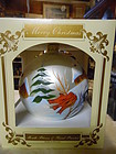 """Huge 6"""" hand blown hand painted Christmas ornament ball Made in Poland"""