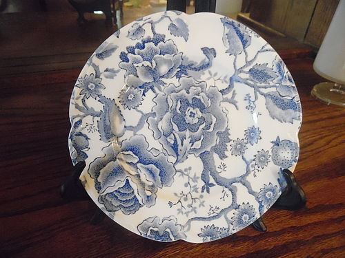 "Johnson Brothers English Chippendale 7"" plate blue chintz"