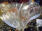 Walther Glas  16.25 dish  Crocus pattern heart shaped dish