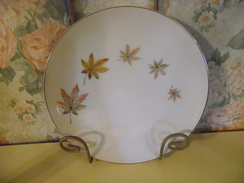 Royal Ming China salad plate leaves pattern