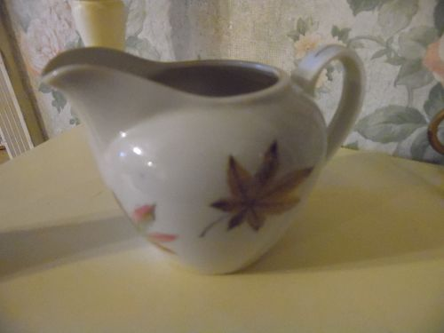 Royal Ming China creamer leaves pattern