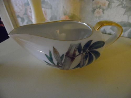 Noritake Canton Bamboo #5027 creamer with slant handle