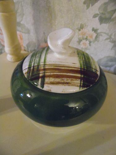 Stetson Scots Clain plaid covered sugar bowl