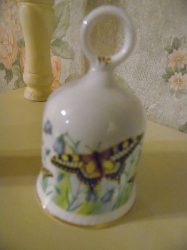 Renaissance Bone china Collectors bell with butterflies England