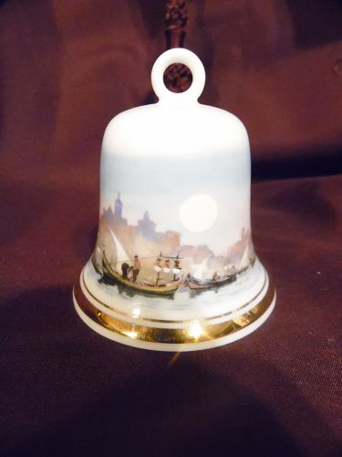 NG Portugal fine porcelain bell fishing village scene