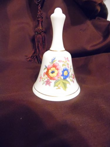 Royal Grafton  England fine bone china bell with country flowers