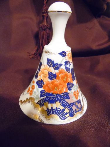 Maruhan Japan Bell collectors Club porcelain bell Imari style