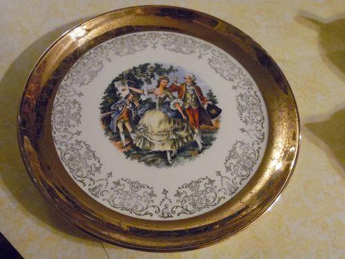 "Crest O Gold Sabin China 9 1/4"" luncheon plate"