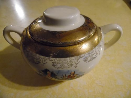 Sabin Crest O Gold Type A sugar bowl with lid