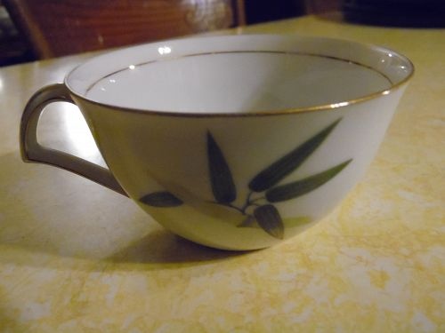 Narumi China Spring bamboo flat cup with gold trim