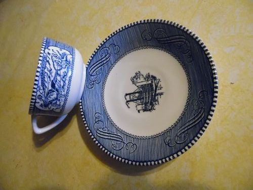 Vintage Currier and Ives cup and saucer Royal China