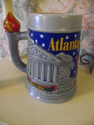 Budweiser 1996 Atlanta Olympics beer stein mug