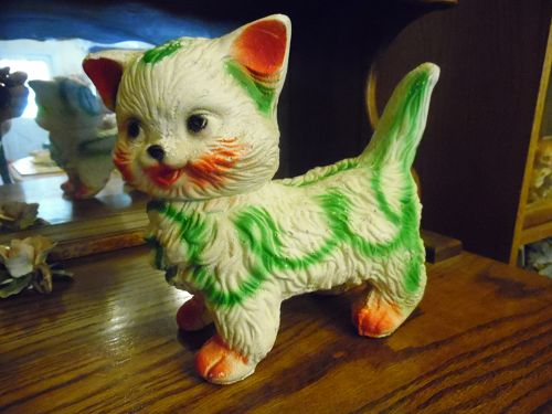 Vintage Carnival chalkware kitty cat bank Mexico