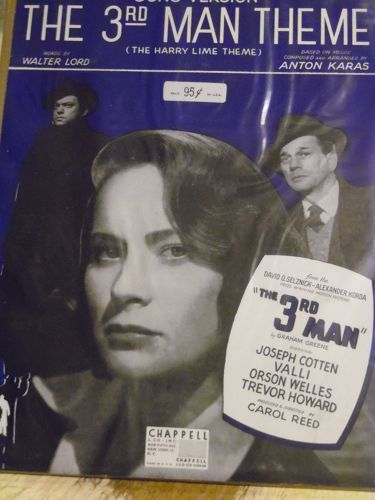 The 3rd Man Theme aka The Harry Lime Theme sheet music1949 Anton Karas