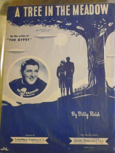 A tree in the meadow vintage sheet music by Billy Reid 1947