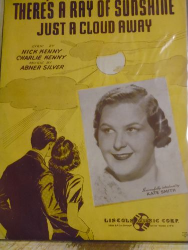 There's A ray Of Sunshine Just A Cloud Away sheet music 1943