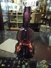 "VINTAGE JERSEY GLASS CO. AMETHYST GLASS 7 3/8"" VIOLIN BOTTLE VASE"