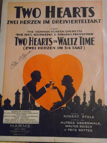 Two Hearts in Waltz Time Robert Stolz Alfred Gruenwald Walter Reisch