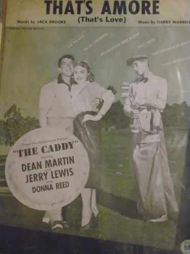 That's Amore (Thats love) vintage sheet musicfrom The Caddy