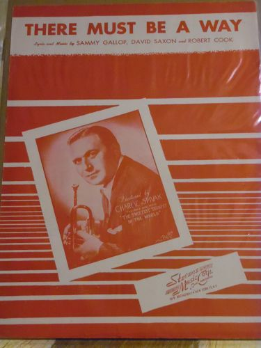 There must be a way vintage sheet music featuring Charlie Spivak 1945